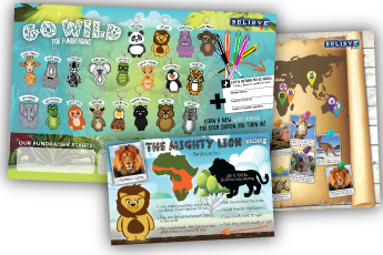 Believe Kids Fundraising | Go Wild for Fundraising Poster